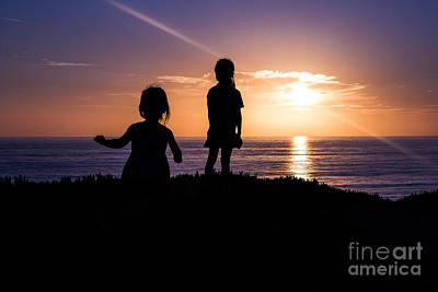 Photograph - Sunset Sisters by Suzanne Luft