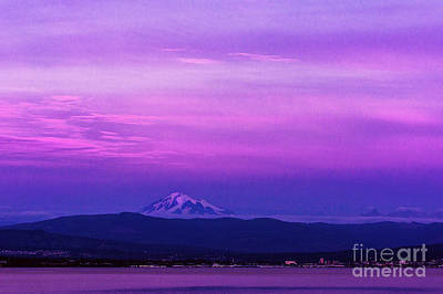 Puget Sound Photograph - Sunset Skies Over Mount Baker And Bellingham Bay by Paul Conrad