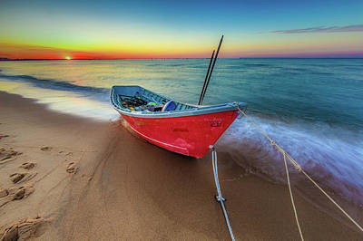 Photograph - Sunset Skiff by Pete Federico