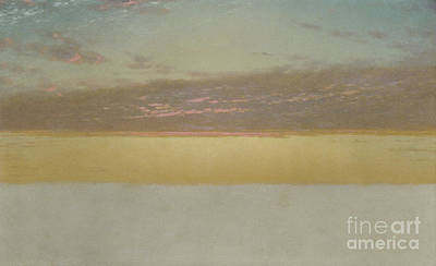 Reflecting Sunset Painting - Sunset Sky, 1872 by John Frederick Kensett