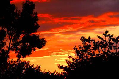 Sunset Sky Art Print by Duke Brito