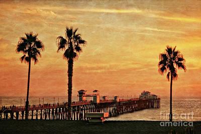 Photograph - Sunset Sky Over Oceanside Pier by Gabriele Pomykaj