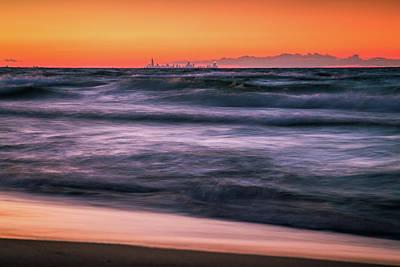 Sunset Skyline Art Print