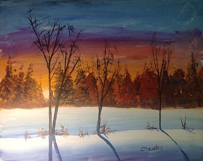 Painting - Sunset Snow by Francis Chester