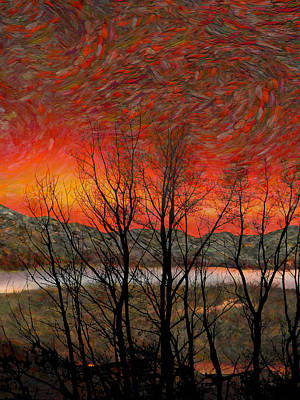 Sunset Soliloquy Art Print by Ed Hall