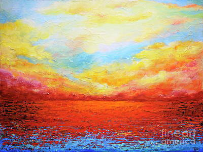 Painting - Sunset Sonata by Teresa Wegrzyn