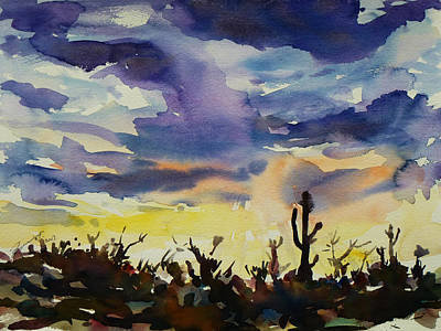 Sonora Painting - Sunset Sonora by Xueling Zou