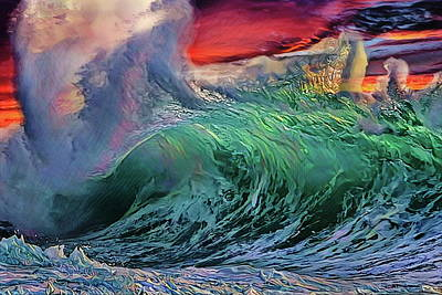 Photograph - Sunset Splash At Windansea by Russ Harris