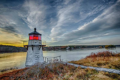 Photograph - Sunset, Squirrel Point Lighthouse by Gary Shepard