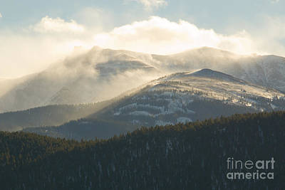 Steven Krull Royalty-Free and Rights-Managed Images - Sunset Storm and Wind on Pikes Peak Colorado by Steven Krull