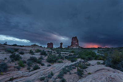 Photograph - Sunset Storm by David Watkins