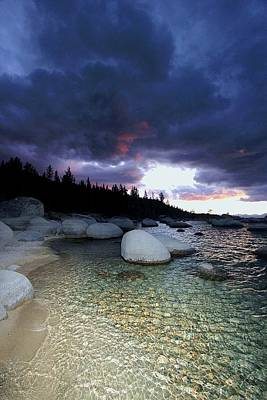 Photograph - Sunset Storm Jewels by Sean Sarsfield