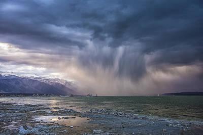 Mono Lake Photograph - Sunset Storm Over Mono Lake by Janis Knight