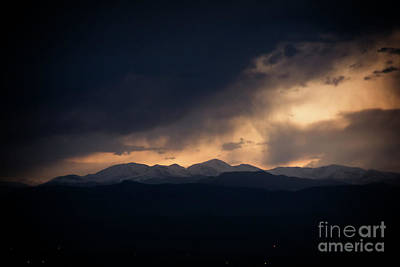 Photograph - Sunset Storm Over The Rockies by Bob Hislop
