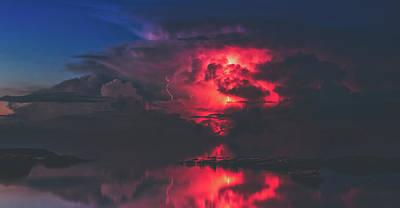 Photograph - Sunset Storm by Pixabay