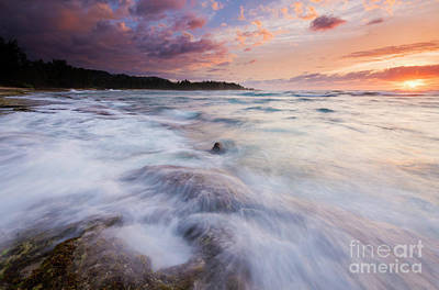 Photograph - Sunset Storm Surge by Mike Dawson