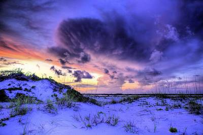 Sunset Storms Over Pensacola Beach Art Print