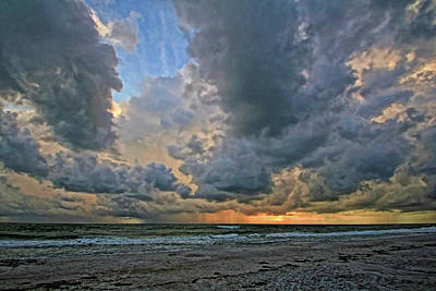Photograph - Sunset - Stormy Weather by HH Photography of Florida