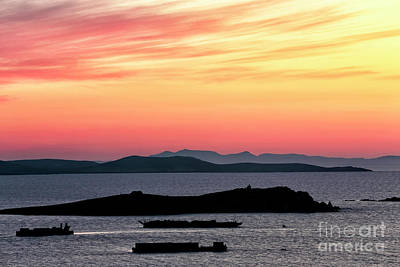 Photograph - Sunset Streaks In The Sky At Mykonos by John Rizzuto