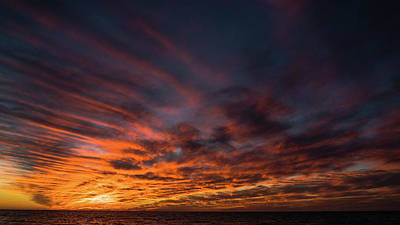 Photograph - Sunset Stripes Venice Florida by Lawrence S Richardson Jr