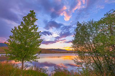 Colorado Sunset Photograph - Sunset Stroll Along The Lake by Darren White