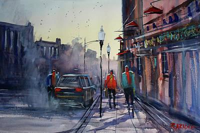 Sunset Stroll Original by Ryan Radke