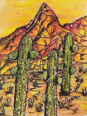 Painting - Desert Sunset Sunrise  by Chuck Gebhardt