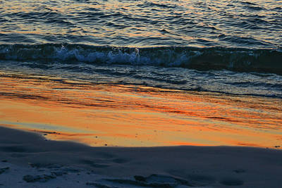 Photograph - Sunset Surf #1 by Tana Reiff