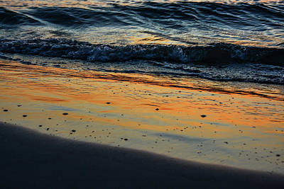 Photograph - Sunset Surf #3 by Tana Reiff