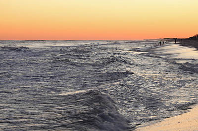 Sunset Surf Fishing Art Print