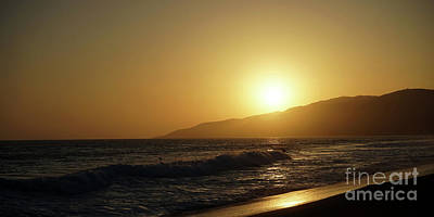 Sunset Surf In Malibu Art Print by Nina Prommer
