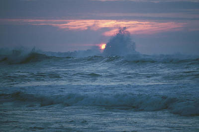 Photograph - Sunset Surf by John Farley