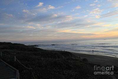 Sunset Surf Art Print by Linda Woods