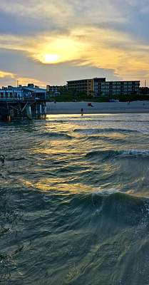 Photograph - Sunset Surf by Lynn Hansen