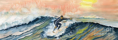 Painting - Sunset Surf by Melly Terpening