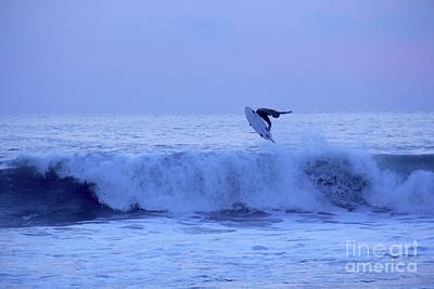 Photograph - Sunset Surfer Puerto Escondido Oaxaca Mexico by Linda Queally