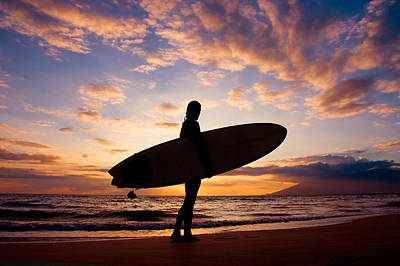 Hawaii Wall Art - Photograph - Sunset Surfer by The Sweets