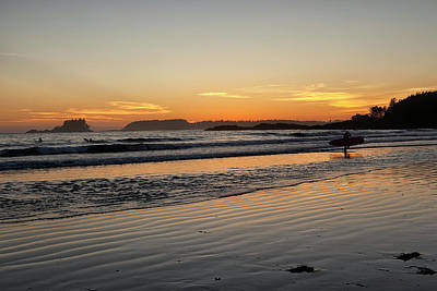 Photograph - Sunset Surfers by Eunice Gibb