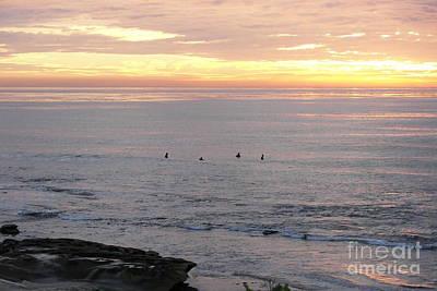 Photograph - Sunset Surfing by Carol  Bradley