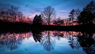 Photograph - Sunset Symmetry by Timothy Harris