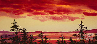 Sunset Symphony Art Print by James Williamson