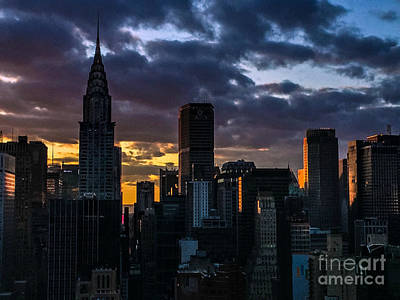 Photograph - Sunset Symphony - New York by Miriam Danar