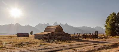 Photograph - Sunset T.a. Moulton Barn  by John McGraw