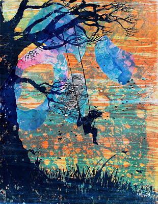 Sorrow Mixed Media - The Swing by Arthur Deaville