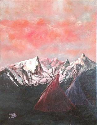 Painting - Sunset Tepees by Sharon Tabor