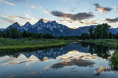 Photograph - Sunset Teton Mountain Range by Tibor Vari