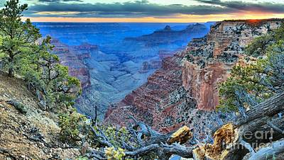 Photograph - Sunset Textures On The North Rim by Adam Jewell