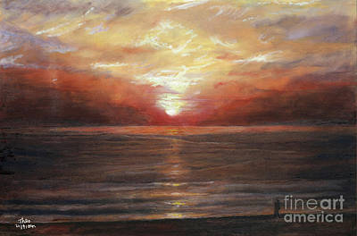 Glamour Painting - Sunset by Theo Michael