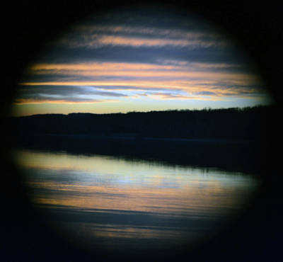 Michael Fitzpatrick Photograph - Sunset Through A Hole by Michael Fitzpatrick