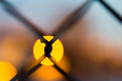 Photograph - Sunset Through Chain Link Fence by SR Green
